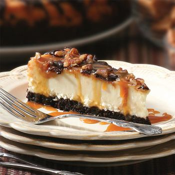"""Picture of Chocolate Caramel Pecan Cheesecake - 10"""""""