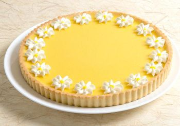 """Picture of Lemon Flower Tart - 9.5"""""""