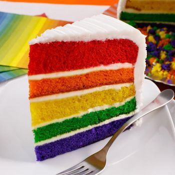 Picture of Rainbow Layer Cake - 10""