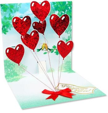 Picture of Large Heart Balloons Card +$10